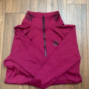 PINK half zip sweater